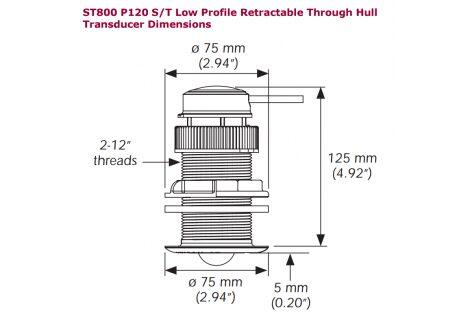 Alt trasduttore passante in plastica p120